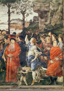 The Purification of the Leper and the Temptation of Christ von Sandro Botticelli