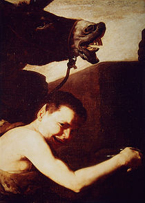 Detail of Drunken Silenus, 1626 by Jusepe de Ribera
