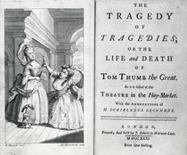 Title page of the script of Tom Thumb by English School