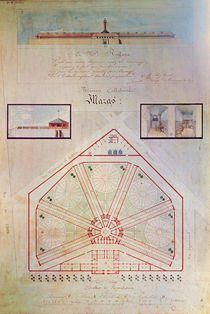 Plan of the Mazas Prison and cells for prisoners von French School