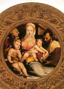Detail of the Holy Family and St. John the Baptist by Domenico Beccafumi