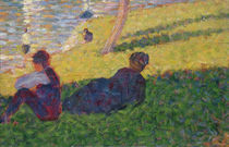 Seated man and reclining woman von Georges Pierre Seurat