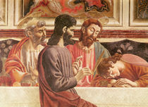 The Last Supper, detail of Saints John and Peter by Andrea del Castagno