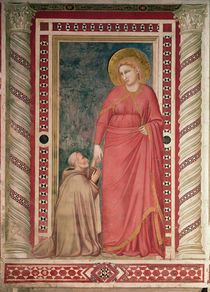 Bishop Pontano kneeling before St. Mary Magdalene by Giotto di Bondone
