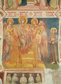 Virgin and Child, Angels and St. Francis of Assisi von Cimabue
