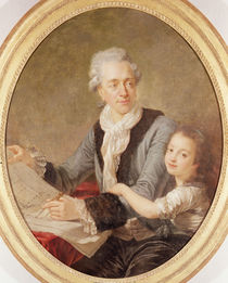 Portrait of the architect Ledoux and his daughter by French School