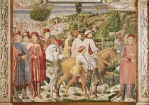 St. Augustine leaves Rome for Milan by Benozzo di Lese di Sandro Gozzoli