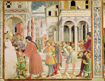 St. Augustine is led by his parents at the School of Tagaste by Benozzo di Lese di Sandro Gozzoli
