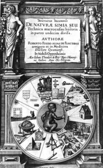 Frontispiece to Robert Fludd's Utriusque Cosmi Historia by English School