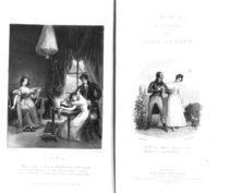 Frontispiece and title page to 'Emma' by Jane Austen von George Pickering