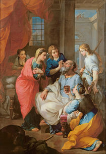 Tobias healing his father's sight by Pierre Parrocel