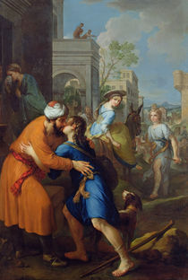 Tobias bidding farewell to his father-in-law by Pierre Parrocel