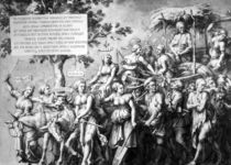 The Triumph of Poverty, drawn by Jan de Bisschop von Hans Holbein the Younger