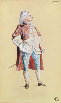 The Actor Grandval by French School