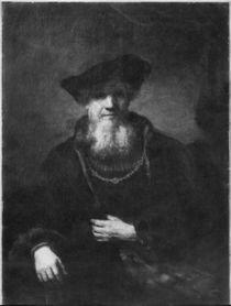 Portrait of a rabbi von Rembrandt Harmenszoon van Rijn