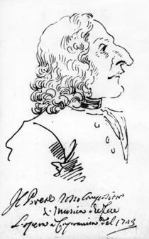Antonio Vivaldi, 1723 von Pier Leone Ghezzi