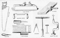 Carpenter's Tools von English School