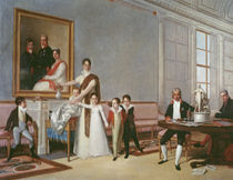 The Family of the First Viscount of Santarem by Domingos Antonio de Sequeira