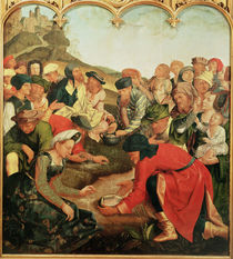 Gathering of the Manna in the Desert by Master of the Evora Altarpiece