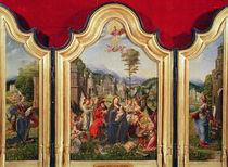 The Holy Family with Saint Catherine and Saint Barbara von Jan Gossaert