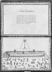 Construction of a galley, second demonstration von French School