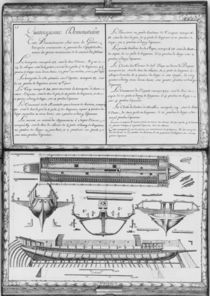 Construction of a galley, fourteenth demonstration von French School