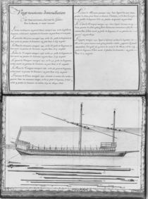 A galley with all its masts von French School