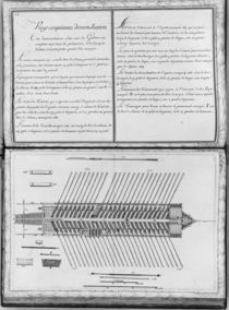 Plan of a galley, twenty-fifth demonstration von French School