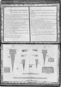Pennants of a galley, twenty-seventh demonstration by French School