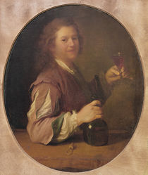 Self portrait of the artist drinking by Jean-Alexis Grimou