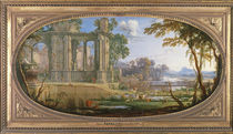 Landscape with classical ruins von Pierre Patel