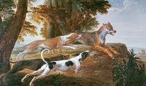 The Wolf Hunt, c.1720 von Alexandre-Francois Desportes