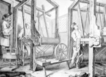 The Fellow Prentices at their Looms Representing Industry and Idleness von William Hogarth