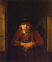 Boy Looking through the Window von Samuel van Hoogstraten