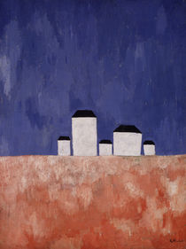 Landscape with Five Houses von Kazimir Severinovich Malevich