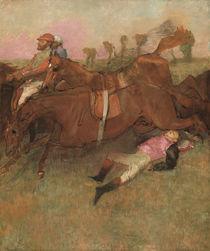 Scene from the Steeplechase: The Fallen Jockey von Edgar Degas