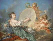 Allegory of Painting, 1765 von Francois Boucher