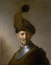 An Old Man in Military Costume by Rembrandt Harmenszoon van Rijn