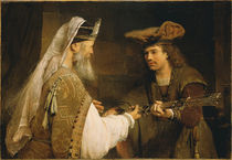 Ahimelech giving the sword of Goliath to David von Aert de Gelder