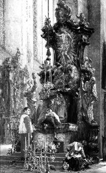 Drawing of an Altar, 1885 von Adolph Friedrich Erdmann von Menzel