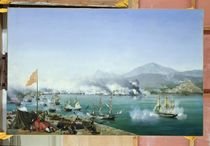 The Battle of Navarino, 20 October 1827 by Ambroise-Louis Garneray