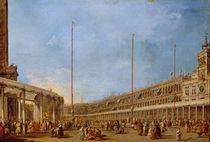 The Procession of the Corpus Domini through St. Mark's Square von Francesco Guardi