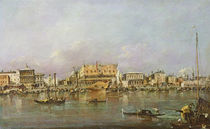 Doge's Palace and view of St. Mark's Basin von Francesco Guardi