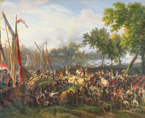 The French Army crossing the Rhine at Dusseldorf by Louis Lejeune