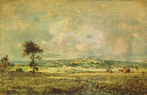 Effects of a Storm, View of the Plain of Montmartre by Theodore Rousseau