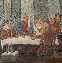 Banquet Given by Bartolomeo Colleoni for King Christian I of Denmark von Girolamo Romanino