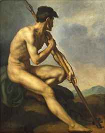 Nude Warrior with a Spear, c.1816 by Theodore Gericault