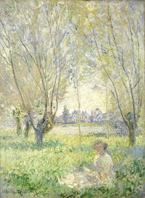 Woman seated under the Willows von Claude Monet