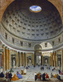 Interior of the Pantheon, Rome von Giovanni Paolo Pannini or Panini