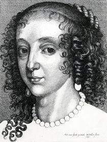 Queen Henrietta Maria, 1641 by Wenceslaus Hollar
